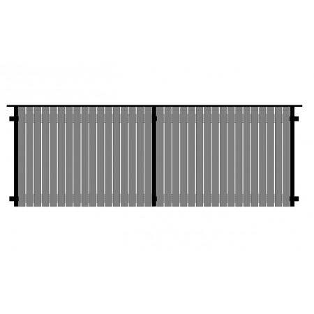 Деревянный забор Scandic «Классика», длина секции 2,0 м