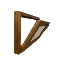 Оконный блок из ДУБА, откидной, стеклопакет, с фурнитурой