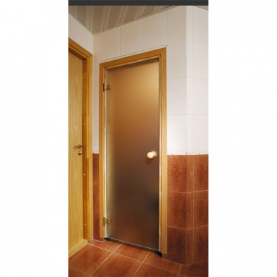 Soul Sauna 700х1870, дверь стекло матовая бронза, коробка СОСНА (Латвия)