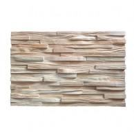Декоративные 3Д панели колотые узкие, кедр