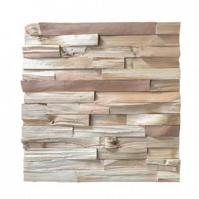 Декоративные 3Д панели колотые прямоугольные, кедр