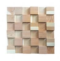 Декоративные 3Д панели пиленые квадратные, лиственница