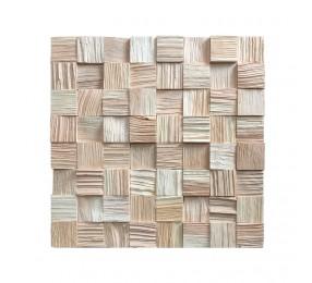 Декоративные 3Д панели колотые квадратные, кедр