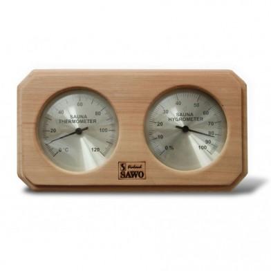 Термогигрометр прямоугольный, SAWO, 221 THD (кедр)