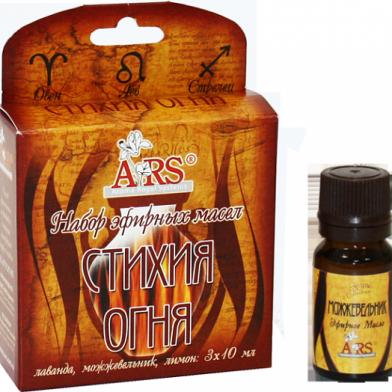 Набор эфирных масел Стихия огня (лаванда, можжевельник, лимон) 3 х 10 мл