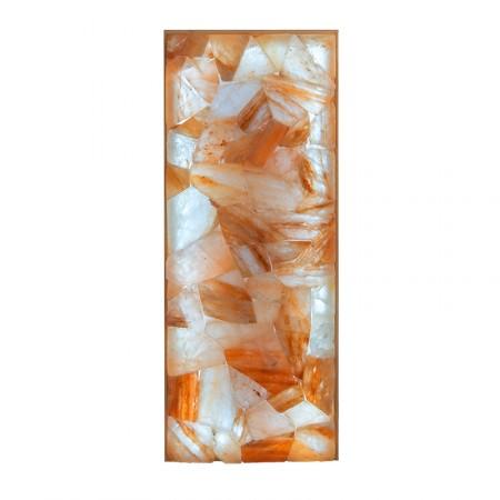 Панно «Мозаика» из шлифованной плитки гималайской соли с подсветкой, 400х1000 мм