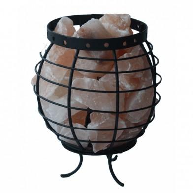 Солевая лампа-корзина круглая