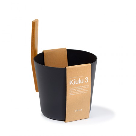 Шайка для сауны KOLO 3 (чёрная)