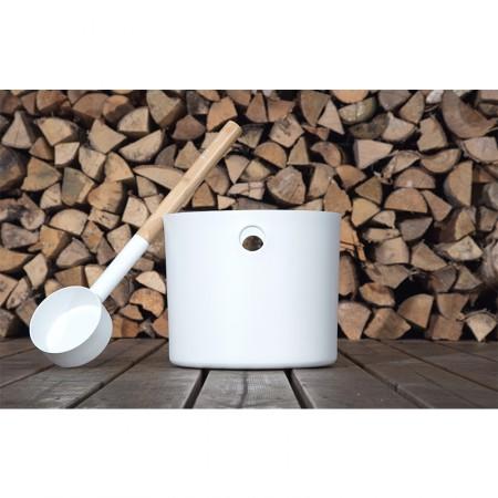Набор для сауны KOLO (белый): шайка и ковш
