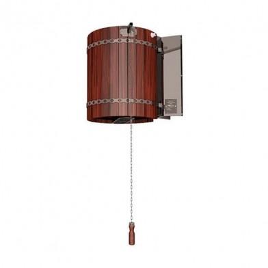 Обливное устройство ЛИВЕНЬ с деревянным обрамлением «красное дерево», 50 л