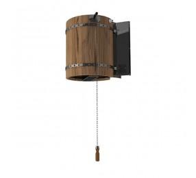 Обливное устройство ЛИВЕНЬ с деревянным обрамлением «термо дерево», 50 л