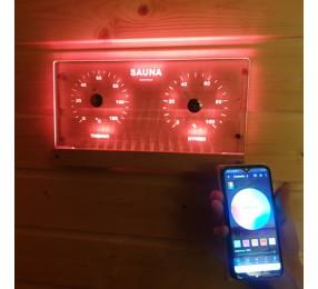 Термогигрометр NIKKARIEN с подсветкой RGB, арт. 46307