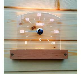 Термометр NIKKARIEN с подсветкой закругленный, арт. 46300
