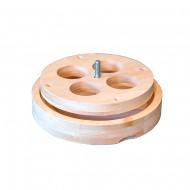 Вентиляционный лючок NIKKARIEN из ольхи, 125 мм, арт. 718TL