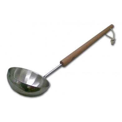 """Ковш NIKKARIEN """"Гигант"""" (65 см) нержавеющая сталь с ручкой из бука, арт. 756"""