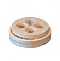 Вентиляционный лючок NIKKARIEN из осины, 100 мм, арт. 717H