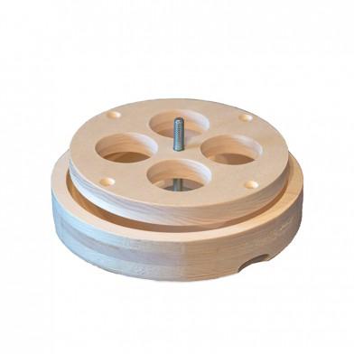 Вентиляционный лючок NIKKARIEN из осины, 125 мм, арт. 718H