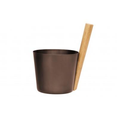 Шайка для сауны Rento 5 л, алюминий, цвет черно-коричневый, арт. 206743