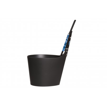Набор для сауны: шайка с прямой ручкой и черпак, цвет чёрный, арт. 251413