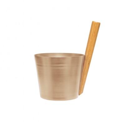Шайка для сауны Rento 5 л, алюминий, цвет шампанское, арт. 225702