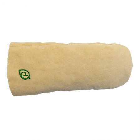 Рукавицы банные из овчины Premio белые