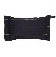 Льняная подушка для сауны и бани, цвет чёрный