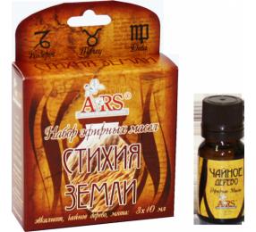 Набор эфирных масел Стихия земли (чайное дерево, эвкалипт, мята) 3 х 10 мл