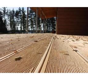 Террасная доска лиственница, 30 мм, длина 4,0 м, сорт ВС