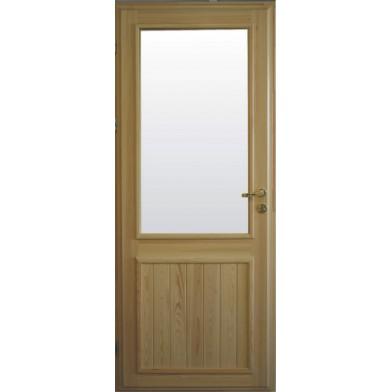 Дверь деревянная входная СО СТЕКЛОМ