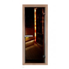 Дверь PREMIO, стекло бронза, коробка БУК
