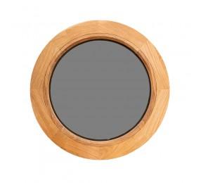 Оконный блок из ДУБА круглый, глухой