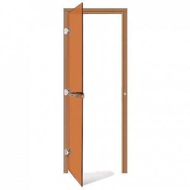 Дверь SAWO 690х1890, стекло бронза, коробка КЕДР, без порога