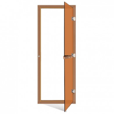 Дверь SAWO 690х1890, стекло бронза, коробка КЕДР, с порогом
