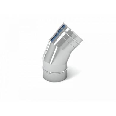 Отвод 45° для дымоходов СДС, 115 мм