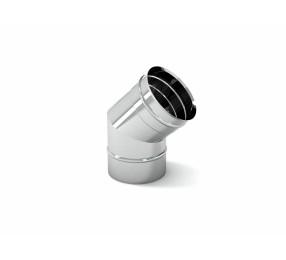 Отвод 45° для дымоходов СДС, 150 мм