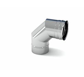 Отвод 90° для дымоходов СДС, 150 мм