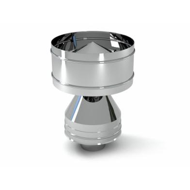 Конус-дефлектор дымовой трубы СДС,  115/215 мм