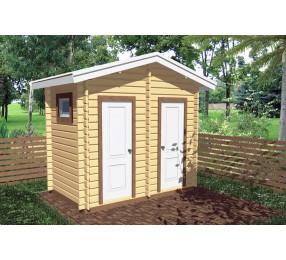Туалет садовый с душем Т-2
