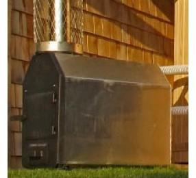 Дровяная печь для нагрева воды в купели DunDalk, с дымоходом и защитой дымохода