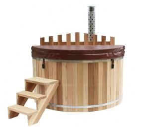 Купель PREMIO, с подогревом (погружная печь), канадский кедр