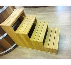 Лестница для купели, из лиственницы