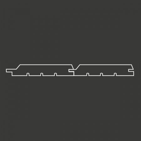 Окрашенная имитация бруса (с отступом) с тонкопиленой поверхностью Scandic Exterior