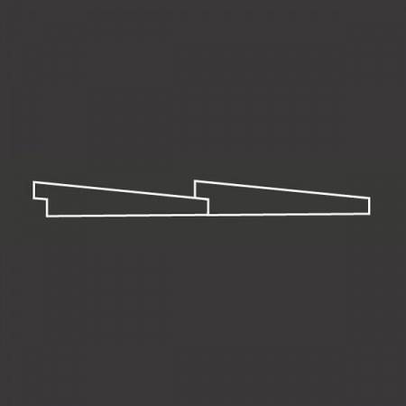 Окрашенная фасадная доска АМЕРИКАНКА с тонкопиленой поверхностью Scandic Exterior
