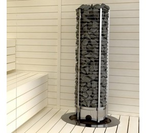 Sawo Tower Premium TH3-60NB P - электрическая каменка круглая, встроенное управление