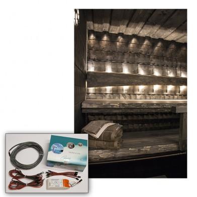 Комплект светодиод. освещения сауны Cariitti LED 3000 K (6 светодиодов), арт. 1532654