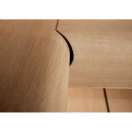 Угловая часть сиденья TAIVE, европейский дуб, 1070х600 мм