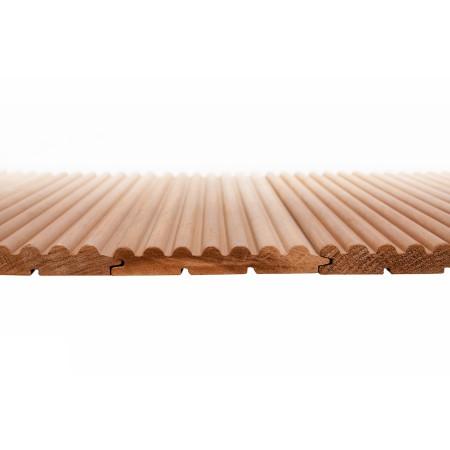 Вагонка термо-осина Волна, сорт Экстра, (деревянные обои) - 1,2 м
