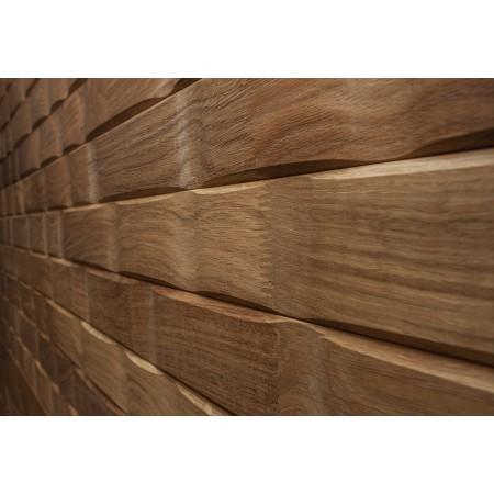 Вагонка профилированная «Волна» ДУБ, 16х74(67) мм