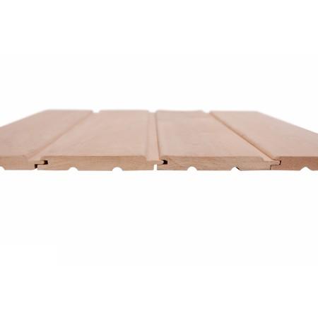 Вагонка Ольха, сорт А, 15х120 (110) мм, софтлайн - 2,4 м
