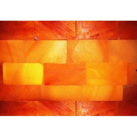 Панно из плитки гималайской соли с подсветкой, 400х1000 мм